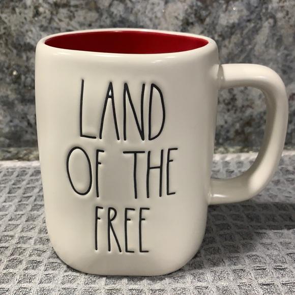 Rae Dunn LAND OF THE FREE Mug